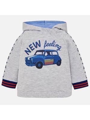 Пуловер, з капюшоном, Сірий, Mayoral Іспанія, 19VL