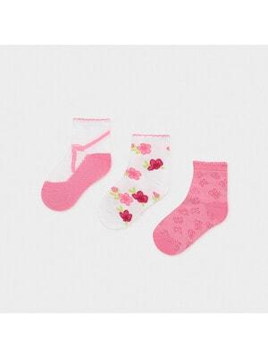 Шкарпетки, 3 пари, Темний, Рожевий, Mayoral Іспанія, 21VL