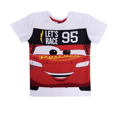 Футболка, сер. Cars  LET`S RACE 95, Білий, Disney Польща, 21OZ