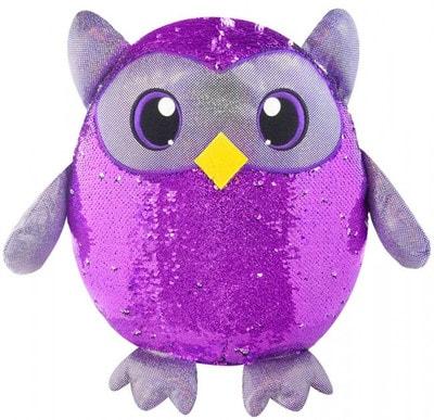 Іграшка М'яка, Ведмежа-Мудра сова  з пайетками (20см), SHIMMEEZ Китай