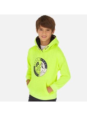Пуловер, з капюшоном, неоновий, Зелений, Mayoral Іспанія, 20VL