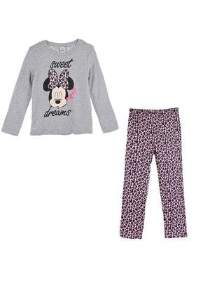 Піжама, серія Disney  MINNIE Джемпер (sweet dreams) + рожеві штани, Сірий, Sun City Франція, 21OZ