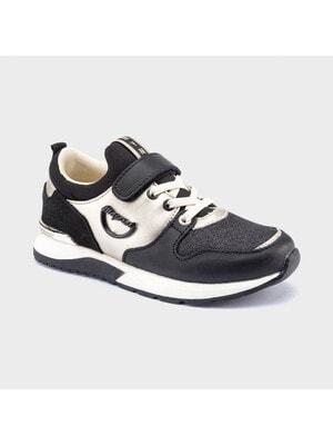 Кросівки, золотисті вставки, Чорний, Mayoral Іспанія, 21OZ