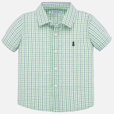 Рубашка, короткий рукав (в клетку), Зеленый, Mayoral Испания, 20VL