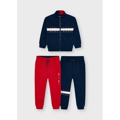 Комплект Спортивний, Кофта + штани 2 шт. (1-червоні), утеплений, Темно-синій, Mayoral Іспанія, 22OZ