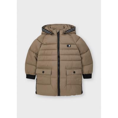 Куртка, з капюшоном, еврозима, Бежевий, Mayoral Іспанія, 22OZ