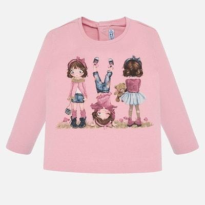 Джемпер, (дівчатка в рожевому та бордовому), Рожевий, Mayoral Іспанія, 20OZ
