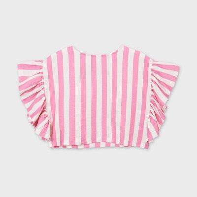 Блуза, в білу смугу, Рожевий, Mayoral Іспанія, 21VL