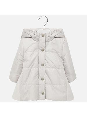 Пальто с капюшоном, Бежевый, Mayoral Испания, 20OZ