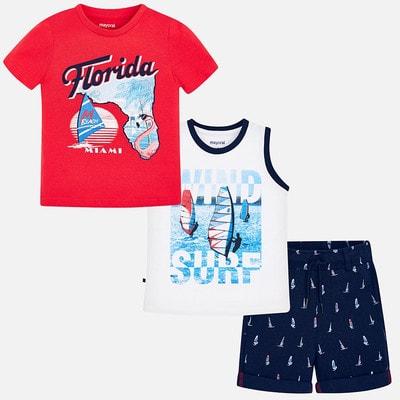 Комплект, Футболка+майка+шорти (Florida), Червоний, Mayoral Іспанія, 19VL