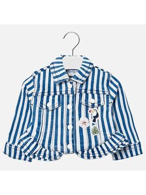 Піджак, в білу смугу, Синій, Mayoral Іспанія, 19VL