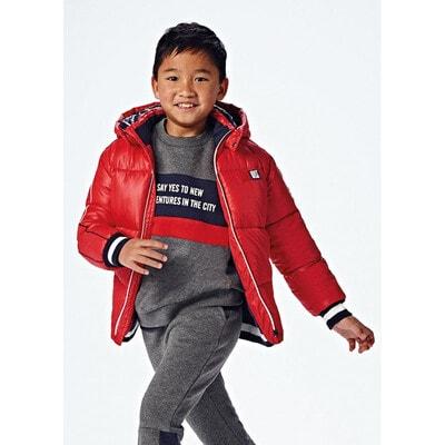 Куртка, з капюшоном, утеплена, Червоний, Mayoral Іспанія, 22OZ