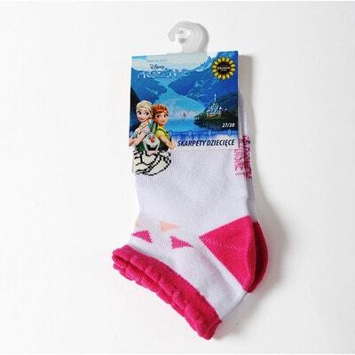 Шкарпетки, FROZEN  малинові  вставки  (Ельза), Білий, Disney Польща, 21OZ