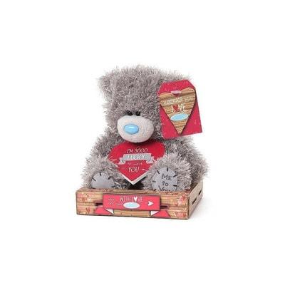 """Іграшка М'яка, Ведмедик Тедді з табличкою """"Мені так пощастило з тобою """" 18 см, Me To You Великобританія"""