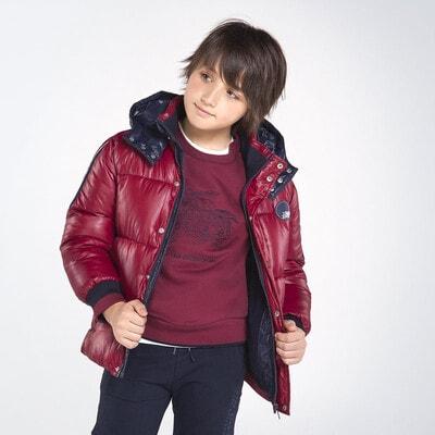 Куртка, з капюшоном, Бордовий, Mayoral Іспанія, 21OZ
