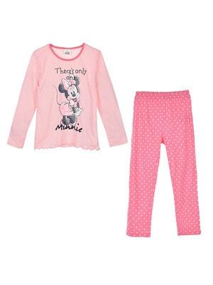 Піжама, серія Disney  MINNIE Джемпер + штани в горошок, Рожевий, Sun City Франція, 21OZ