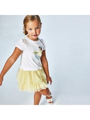 Платье, (девочка в желтом платье), Белый, Mayoral Испания, 21VL