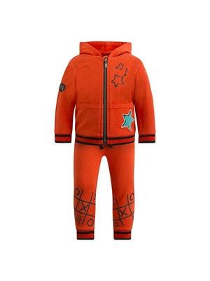 Комплект Спортивний, Кофта + штани (зелена зірка), Помаранчевий, TucTuc Іспанія, 20OZ