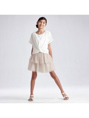 Комплект, Блуза + сукня (низбежевий), Кремовий, Mayoral Іспанія, 21VL