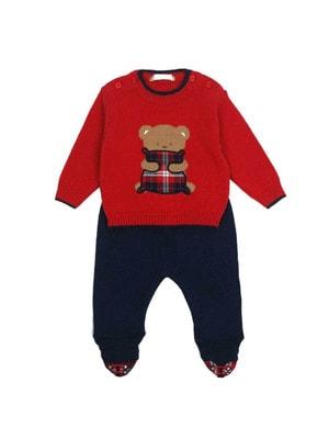 Комплект, светер червоний+повзунки, Темно-синій, Dr.Kid Португалія, 19OZ