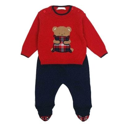 Комбінізон, светер червоний+повзунки, Темно-синій, Dr.Kid Португалія, 19OZ