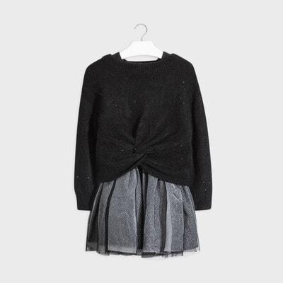 Комплект, Светр + сукня, Чорний, Mayoral Іспанія, 21OZ