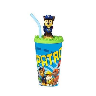 """Пляшка для пиття з фігуркою  """"PAW PATROL """", 440 мл, Синій, Disney Польща"""