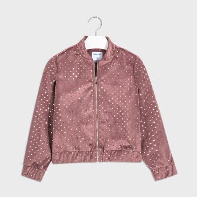 Піджак, у сріблястий горошок Темний, Рожевий, Mayoral Іспанія, 21OZ