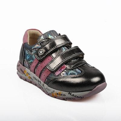 Кросівки, збоку рожеві смуги (голографічний малюнок), Темно-сірий, Dr.Mymi Orthopedic Туреччина, 21OZ