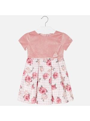 Сукня, короткий рукав (знизу квіти), Рожевий, Mayoral Іспанія, 20OZ