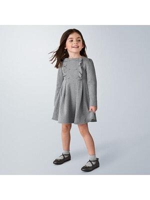 Сукня, довгий рукав, Сірий, Mayoral Іспанія, 21OZ