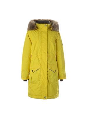 Пальто, з капюшоном MONA 2, Жовтий, HUPPA Естонія, 21OZ