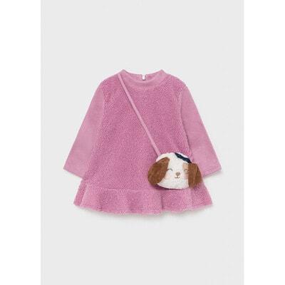 Сукня, довгий рукав + сумочка, Рожевий, Mayoral Іспанія, 22OZ