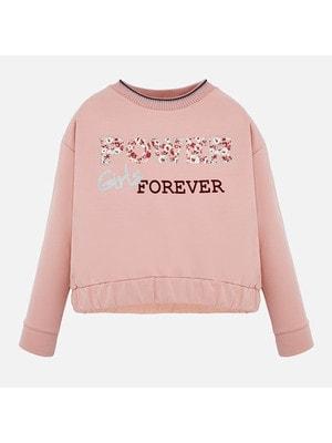 Пуловер, (сріблястим Girls), Рожевий, Mayoral Іспанія, 20OZ