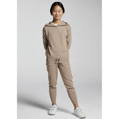 Комплект, Пуловер + штани, з люрексом, Бежевий, Mayoral Іспанія, 22OZ