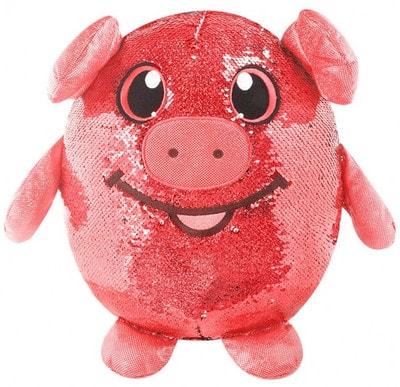 Іграшка М'яка Весела Свинка з пайетками (20см)