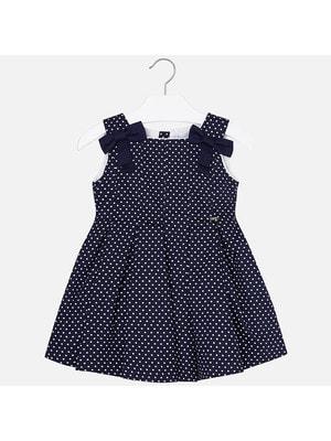 Сукня, в білий горошок, Темно-синій, Mayoral Іспанія, 19VL