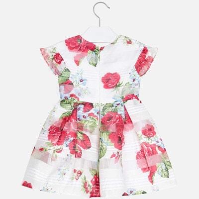 Сукня, в червоних квітах, Білий, Mayoral Іспанія, 20VL