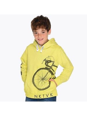 ОДЯГ Хлопчик Пуловер, з капюшоном, Жовтий, Mayoral Іспанія, 19VL
