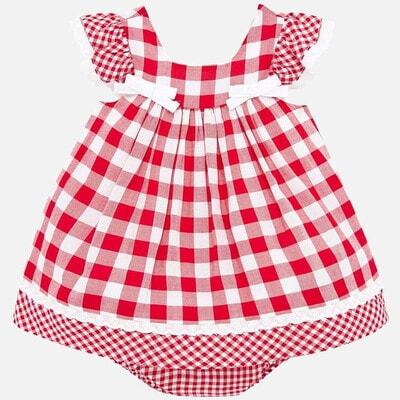 Сукня  в білу клітину, Червоний, Mayoral Іспанія, 20VL