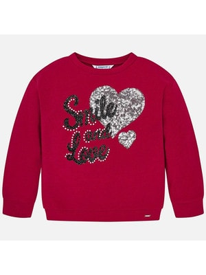 Пуловер, (сріблясте серце з паєток), Червоний, Mayoral Іспанія, 20OZ