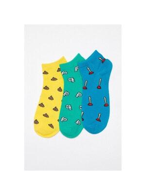 Шкарпетки, 3 пари Зелений Синій, Жовтий, Reporter young Польща, 21VL