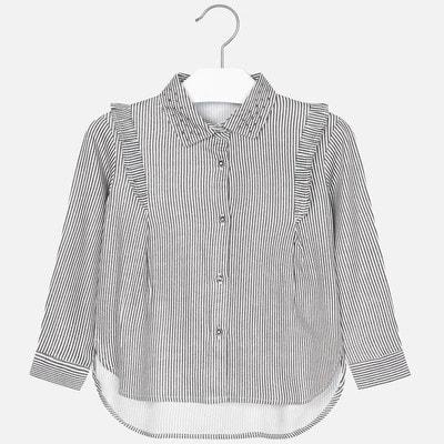 Блуза, довгий рукав, в білу смугу, Синій, Mayoral Іспанія, 20OZ