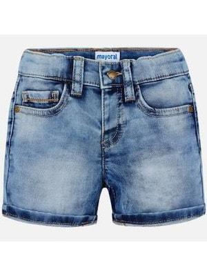 Шорти, джинс. (помаранч. строчки на кишенях), Mayoral Іспанія, 18VL