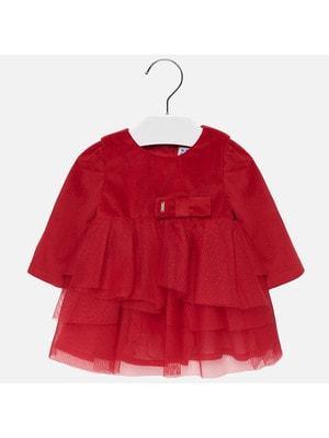 Сукня, довгий рукав (знизу фатин), Червоний, Mayoral Іспанія, 20OZ