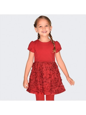 Сукня, короткий рукав, Червоний, Mayoral Іспанія, 20OZ