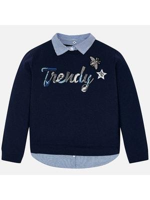 Пуловер, Темно-синій, Mayoral Іспанія, 19VL