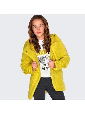 Пальто, з капюшоном, Жовтий, Mayoral Іспанія, 20OZ