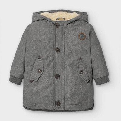Куртка, з капюшоном, Сірий, Mayoral Іспанія, 21OZ