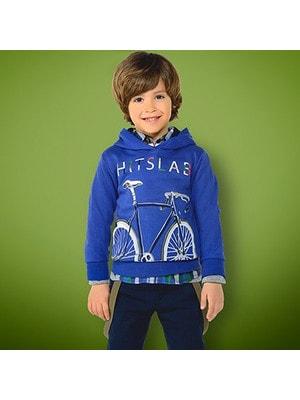 Пуловер, з капюшоном, Синій, Mayoral Іспанія, 19OZ